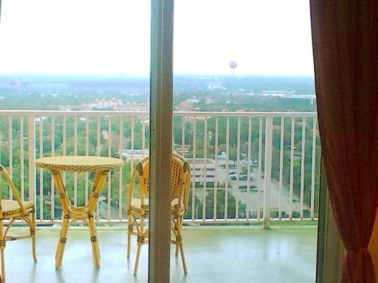 Blue Heron Beach Resort: Balcony facing WDW, Disney suite