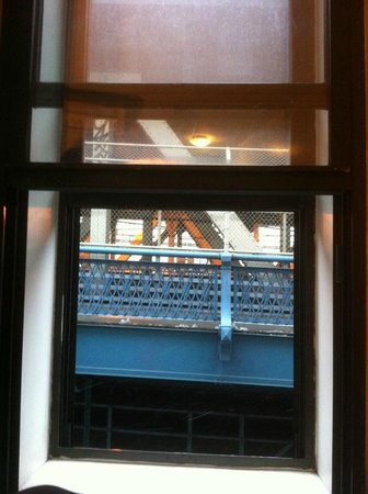 The Hotel 91: View of the Manhattan Bridge from the room