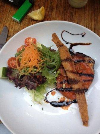 Bona Fides Cafe Restaurant: mozzarella stuffed eggplant