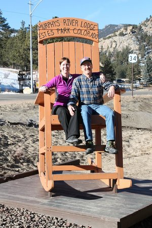 Murphy's River Lodge: Murph's River Lodge BIG rocking chair