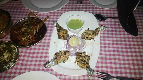 Hotel Ajanta: Succulent Tangdi Kabab at Roof Top Restaurant of Ajanta