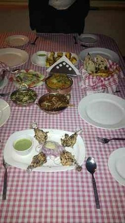 Hotel Ajanta : Table Spread for our Dinner 2