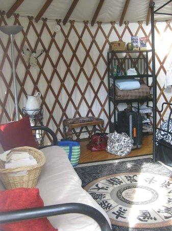 Falling Waters Adventure Resort: Inside Yurt
