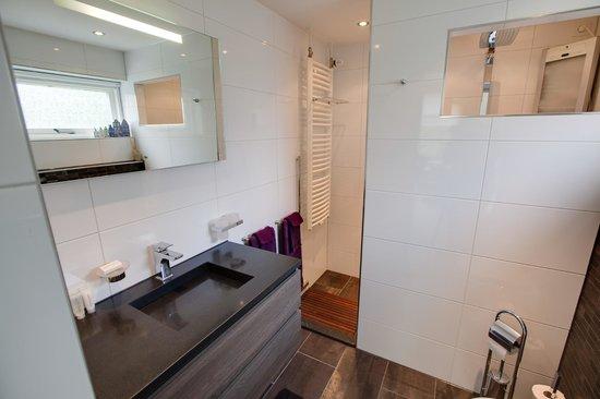 """Het Schoolhuis: Luxe badkamer van familiekamer """"de Opkamer"""""""