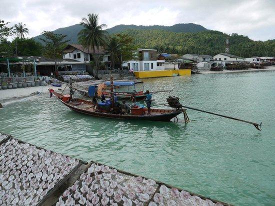Ao Chaloklum Bay : рыбацкая лодка