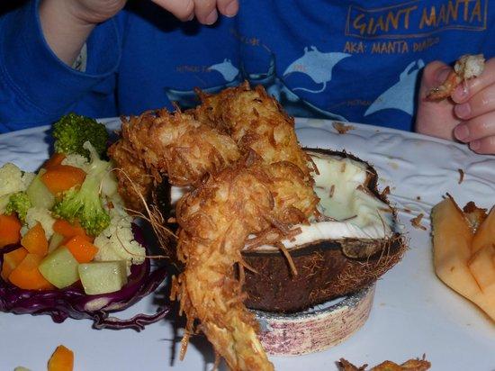 Casa Mission: Coconut shrimp (partially eaten)...yum!!!