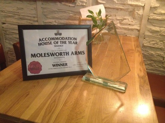 Molesworth Arms Hotel: ST Austell Brewery Acommodation House Of The Year Award