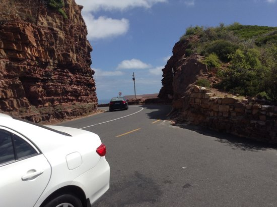 Southern Sun Waterfront Cape Town : Chapmans Peak narrow pass