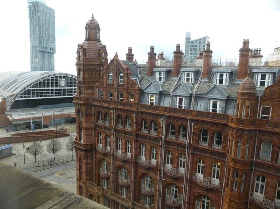 Premier Inn Manchester Central Hotel: View across the road from top floor room