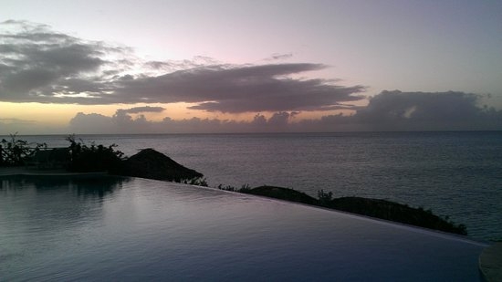 Cocobay Resort: great sunsets and views from both pools