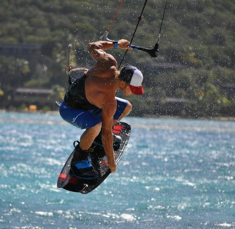 Fusion BVI: Charlie on the kite-board