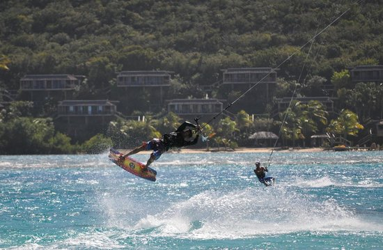 Fusion BVI: Dueling kite-surfers