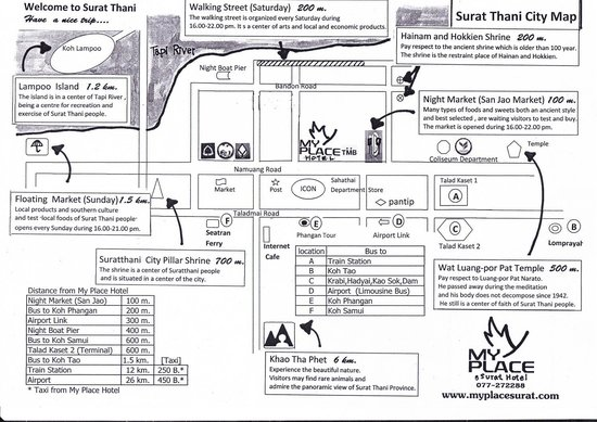 My Place @Surat Hotel: Map