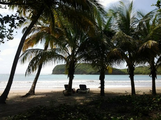 La Sagesse Hotel, Restaurant & Beach Bar: View from the beach front restaurant.