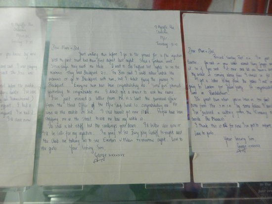 National Football Museum - George Best letter
