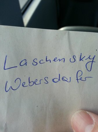 Hotel Restaurant Laschenskyhof: Letter from a pretty girl
