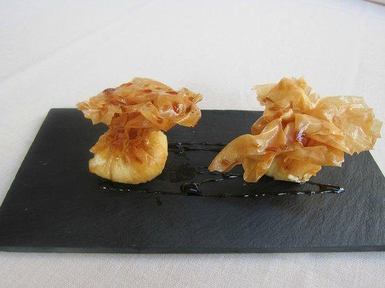 Restaurante La Palmera: Paquetitos de brandada de bacalao