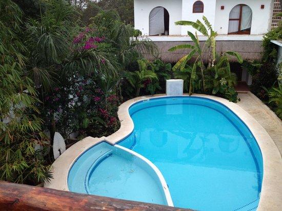 Posada Yum Kin: Upper Level View of Yum Kin Pool