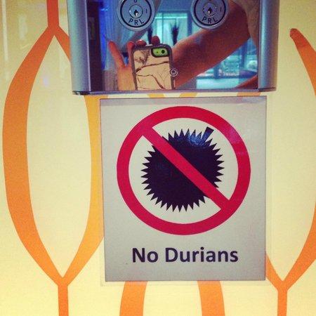 Novotel Bangkok Fenix Silom: Keep your stinky fruit out of your room