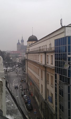 Wielopole Hotel : View from our room, very close to the main square