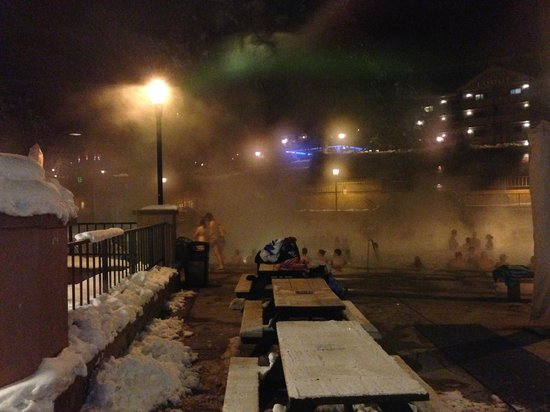 Glenwood Hot Springs Pool: On a February evening