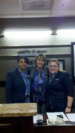 Hampton Inn Cleveland Solon: (L-R) Markeyda, Ewa, Melanie