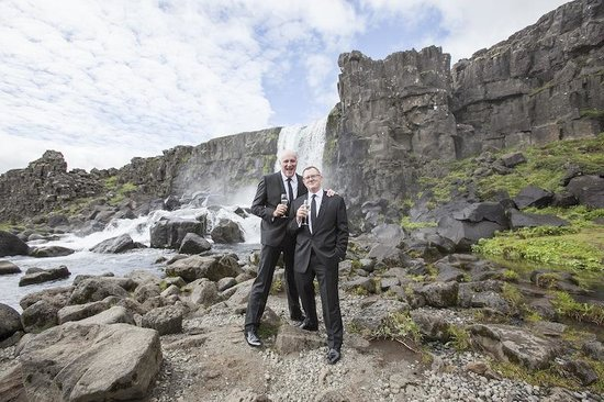Pink Iceland Day Tours: Lovely wedding ceremony at Thingvellir