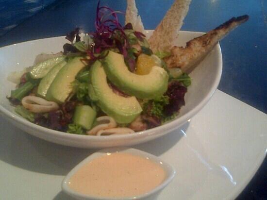 Rocket: Cajun calamari salad