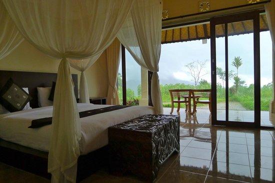 Villa Pelangi Sidemen: Le bungalow donnant directement sur les rizières