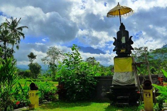 Villa Pelangi Sidemen: Le mont Agung en décor de fond