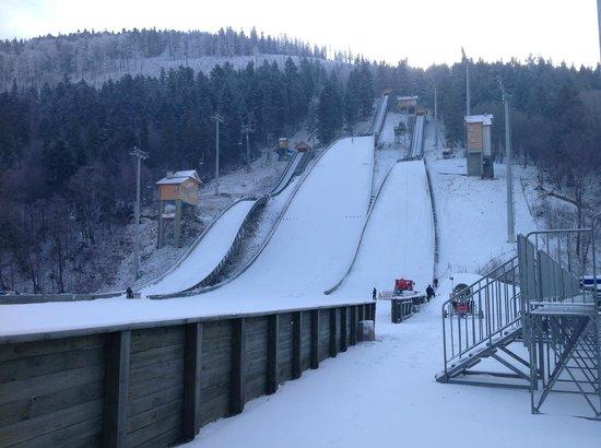 Hotel Skalite Spa & Wellness: Local Ski Jump Beside Hotel