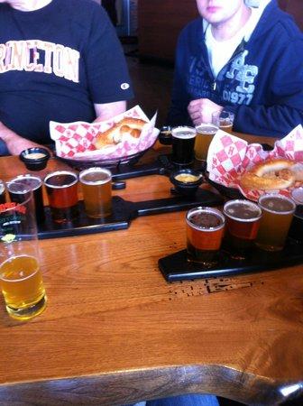Harpoon Brewery & Beer Hall: beer samplers