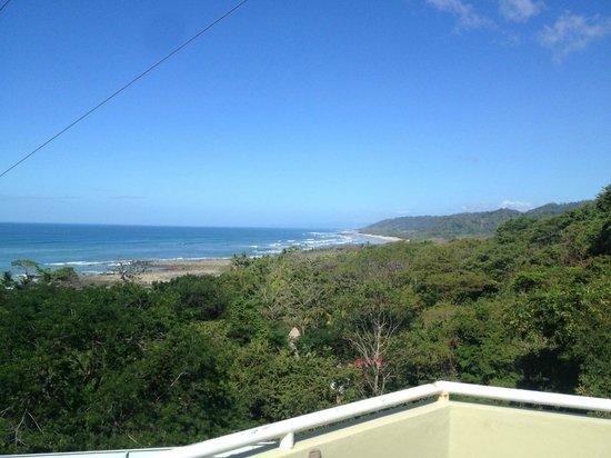 Hotel Moana: vista de la playa desde la seccion arriba del comedor