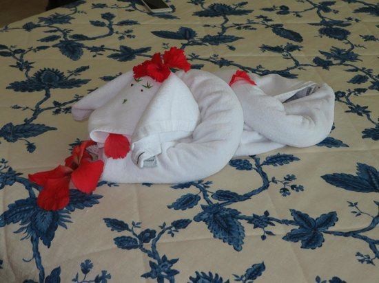 Royal Level Occidental Cozumel: towel art!