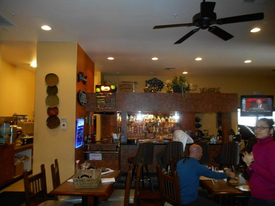 """Oriol's Restaurant : """"Front"""" dining room and bar."""