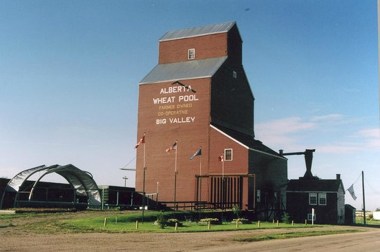 ​Big Valley Historical Society: Provincial Heritage Site-1960 Alberta Wheat Pool Elevator