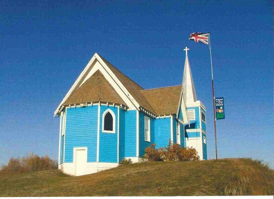 Big Valley, Canada: 1916 St. Edmunds Anglican church--a Provincial Heritage Site