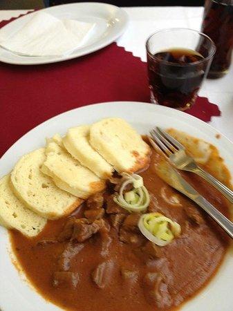 Kavarna Slavia Cafe: Goulash with Dumplings