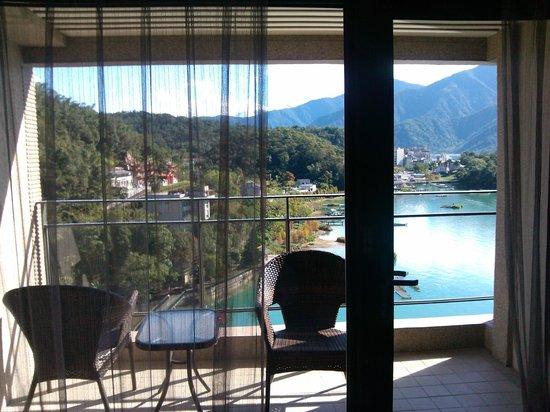 Sun Moon Lake Hotel : 陽台