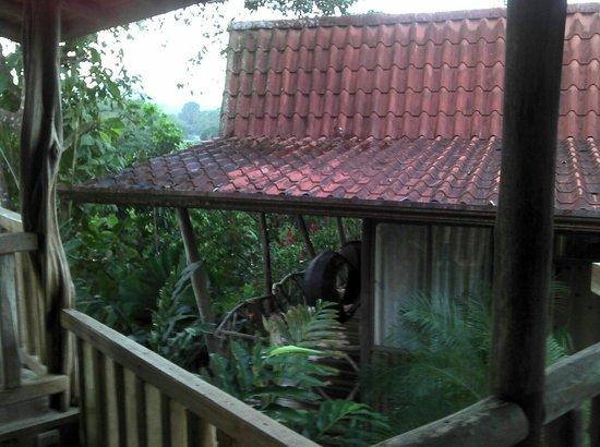 Hotel Pedacito de Cielo Eco Lodge: Blick vom Restaurant auf Hütte Nr.:4
