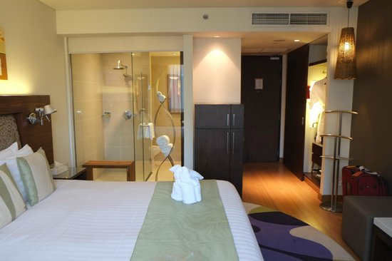 Park Plaza Sukhumvit Bangkok: Room with rain shower (glass enclosed; privacy screen slides down)