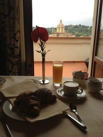 The Westin Excelsior Florence: room service with a view