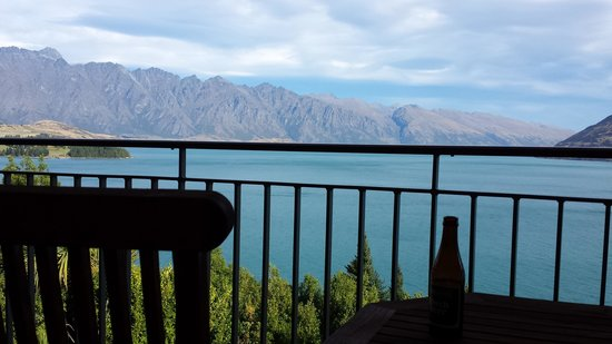 Heritage Queenstown: View from our room (front bldg on corner)