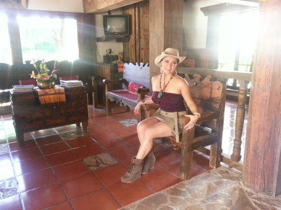 Hacienda Don Juan Hotel: Esperando a que pasen por nosotros para irnos