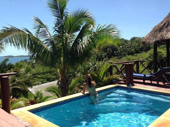 Wananavu Beach Resort: Bure 23, Private pool