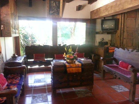 Hacienda Don Juan Hotel: Una sala de estancia para esperar tranquilamente