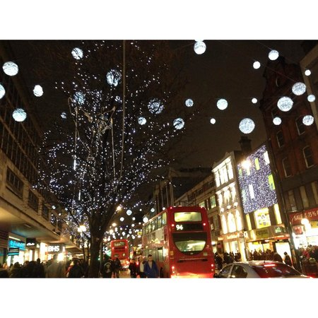 festive oxford street.......a quick 2 minute walk from the marylebone hotel