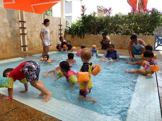 Club Med Bintan Island: Petit club enjoying at the pool.