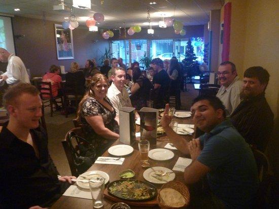 Shiraz Indian Restaurant walton street: Harvey norman staff party