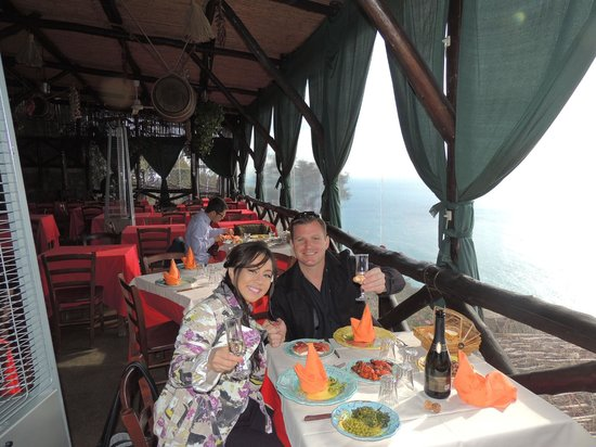 See Amalfi Coast and more... : The most special lunch of all time!  Wanted to hide the view, you have to see it for yourself :)